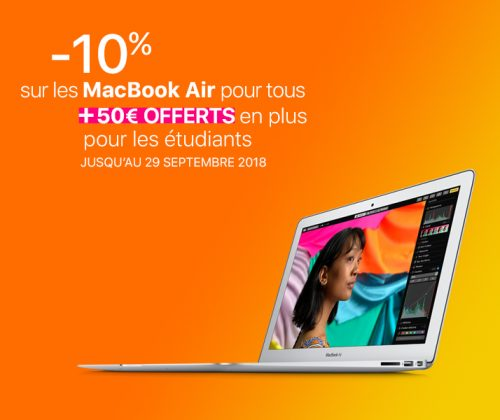 -10% sur MacBook Air +50€ offerts chez Inter-Actif Apple Premium Reseller